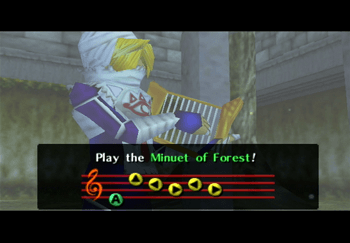 Sheik playing the Minuet of Forest