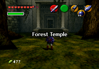 Forest Temple Title Screen