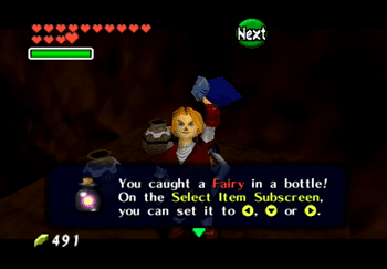 Picking up a Fairy in a Bottle
