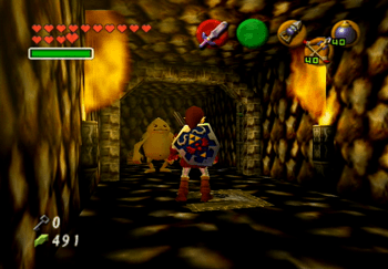 Freeing another Goron from a prison cell
