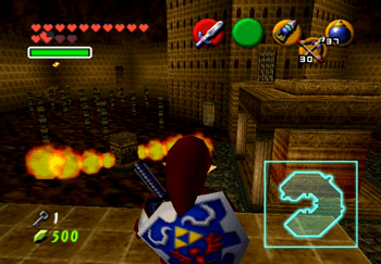 The room with a ton of stuff going on in the Fire Temple