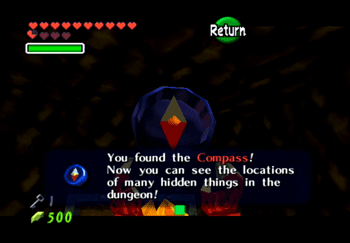 Obtaining the Compass for the Fire Temple
