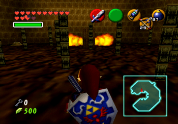 Navigating through the invisible flame wall of the Fire Temple