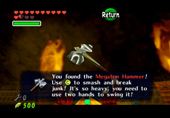 Obtaining the Megaton Hammer in the Fire Temple