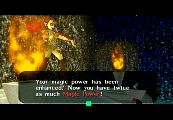 The Great Fairy providing enhanced Magic Power to Link