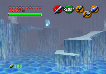 The first room with Blue Fire in the Ice Cavern