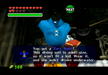 Obtaining the Zora Tunic from King Zora