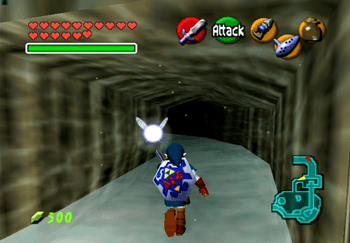 Traveling down the tunnel in Zora's Domain