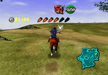 Riding Epona through Hyrule Field