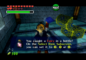 Grabbing a Fairy and putting it in a Bottle