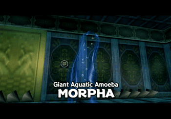 Giant Aquatic Amoeba Morpha, the final boss of the Water Temple