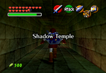 Entering the Shadow Temple Title Screen