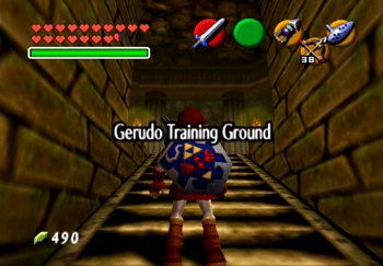 Entering the Gerudo Training Ground title screen