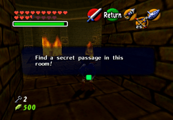 Find a secret passage in the room!