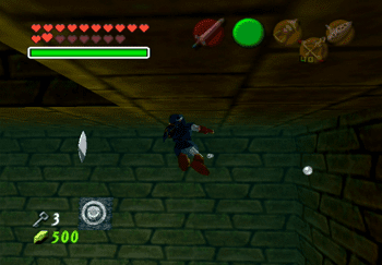 Swimming through the water to obtain each of the Silver Rupees