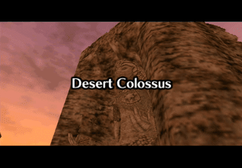 The Desert Colossus title screen