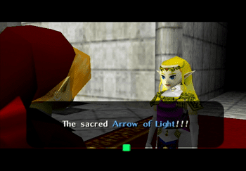 Princess Zelda discussing the Arrows of Light