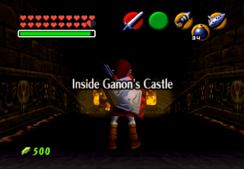 Entering the Inside of Ganon's Castle title screen