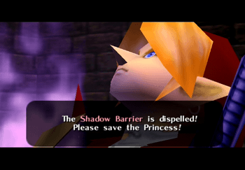 The Shadow Barrier is dispelled! Please save the Princess!