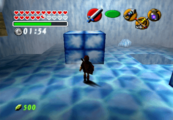 The ice room with the timer