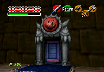 The entrance to the Fire Trial in Ganon's Castle