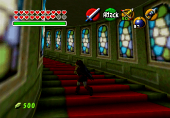 Traveling up the final staircase towards Ganondorf
