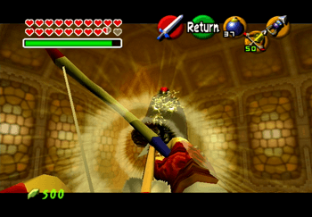 Aiming a Light Arrow at Ganondorf
