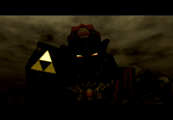 Ganon showing off the Triforce of Power