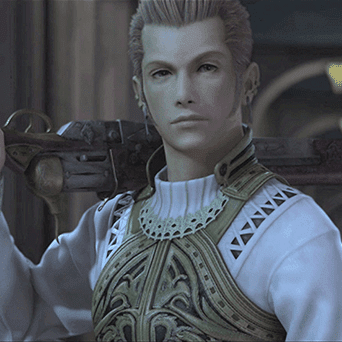 Screenshot of Balthier from Final Fantasy XII